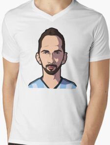 Higuain Caricature Mens V-Neck T-Shirt