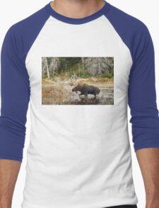 Bull moose - Algonquin Park Men's Baseball ¾ T-Shirt