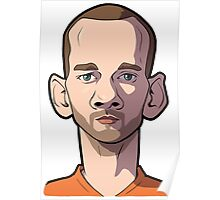 sneijder Caricature Poster