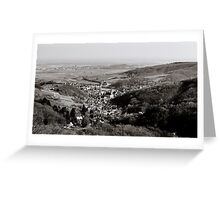 Little french village Andlau view from the top of the hill, retro vintage style Greeting Card