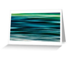 ocean movement Greeting Card