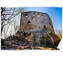 Ruins of old medieval castle Spesbourg, Alsace, France Poster