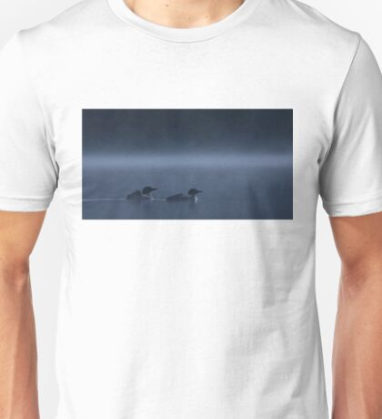 Loons in Blue - Common loons Unisex T-Shirt