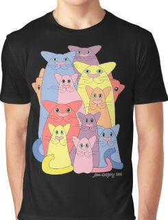 Twelve Cats For Happiness Graphic T-Shirt