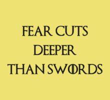 fear cuts deeper than swords One Piece - Short Sleeve