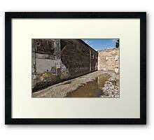 Reflecting on Ancient Pompeii - Quiet Sunny Courtyard Framed Print