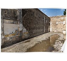 Reflecting on Ancient Pompeii - Quiet Sunny Courtyard Poster