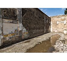 Reflecting on Ancient Pompeii - Quiet Sunny Courtyard Photographic Print