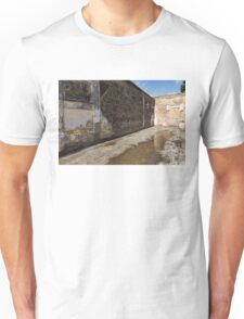 Reflecting on Ancient Pompeii - Quiet Sunny Courtyard Unisex T-Shirt