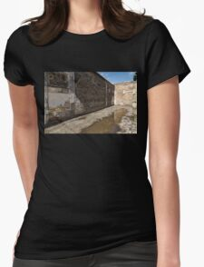 Reflecting on Ancient Pompeii - Quiet Sunny Courtyard Womens Fitted T-Shirt