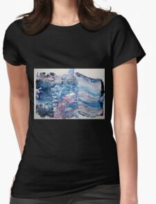 The best part of happiness lies is in the secret heart of a lover - Original Wall Modern Abstract Art Painting Womens Fitted T-Shirt
