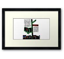 Beats Rhymes & Life - the travel of Framed Print