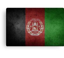 Afghanistan Flag Grunge Canvas Print