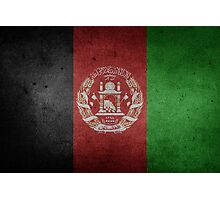 Afghanistan Flag Grunge Photographic Print