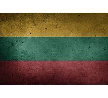 Lithuania Flag Grunge Photographic Print
