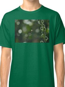 Wasp captured while flying around flowers Classic T-Shirt