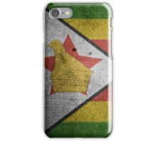 Zimbabwe Flag Grunge iPhone Case/Skin