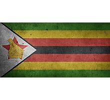 Zimbabwe Flag Grunge Photographic Print
