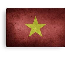 Vietnam Flag Grunge Canvas Print