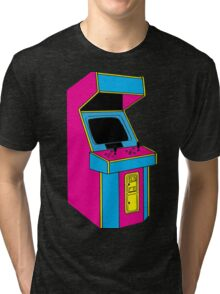 Stand Up, Old School Arcade Game (CMYK) Tri-blend T-Shirt