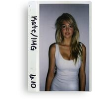 Kate Upton Polaroid Canvas Print
