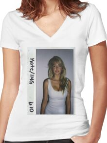 Kate Upton Polaroid Women's Fitted V-Neck T-Shirt