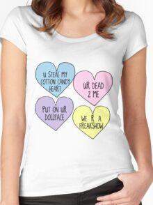 Melanie Martinez Lyric Conversation Hearts Women's Fitted Scoop T-Shirt