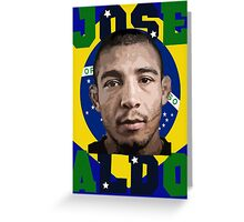 Jose Aldo Brazilian Beast Greeting Card