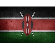Kenya Flag Grunge Photographic Print