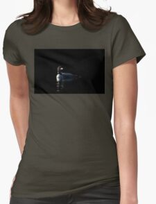 Common Loon on black water Womens Fitted T-Shirt