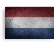 Netherlands Flag Grunge Canvas Print