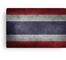Thailand Flag Grunge Canvas Print