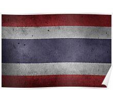 Thailand Flag Grunge Poster