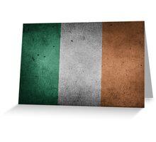 Ireland Flag Grunge Greeting Card