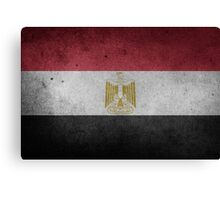 Egypt Flag Grunge Canvas Print