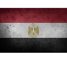 Egypt Flag Grunge Photographic Print