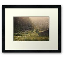 On the Fading Away Framed Print
