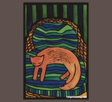 Orange Cat in the Big Chair Kids Clothes