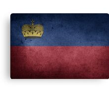 Liechtenstein Flag Grunge Canvas Print