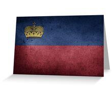 Liechtenstein Flag Grunge Greeting Card