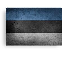 Estonia Flag Grunge Canvas Print