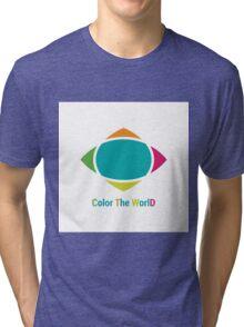 Color the world Tri-blend T-Shirt