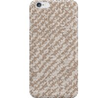 Modern Peach Brown Popular Trendy Abstract Pattern iPhone Case/Skin