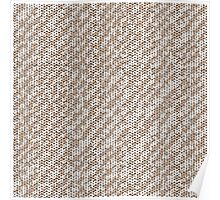 Modern Peach Brown Popular Trendy Abstract Pattern Poster