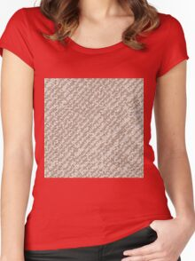 Modern Peach Brown Popular Trendy Abstract Pattern Women's Fitted Scoop T-Shirt