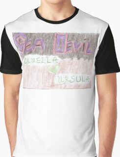 Sea Devil Love Multicolored Graphic T-Shirt