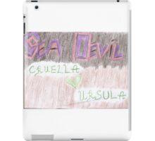 Sea Devil Love Multicolored iPad Case/Skin