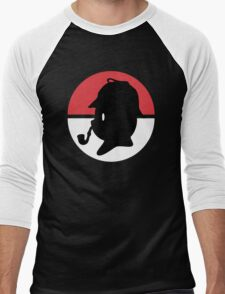 Pikachu Holmes Profile Men's Baseball ¾ T-Shirt