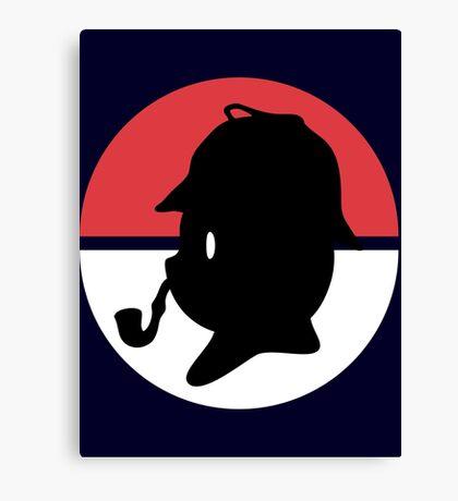Pikachu Holmes Profile Canvas Print