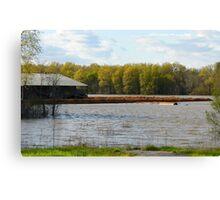 Flooded Farm Canvas Print